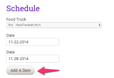 Adding multiple dates