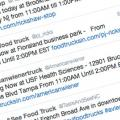 Picture of tweets from FoodTrucksIn.com