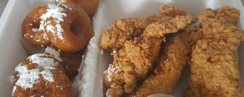 Chicken and Donuts Lunch Special