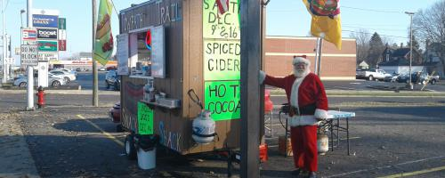 Sausage w/Santa @ Buried Treasures 2306 West Tuscarawas St, Canton