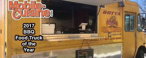 "Voted Mobile Cuisine Magazines 2017 ""Best BBQ FoodTruck in The USA"""