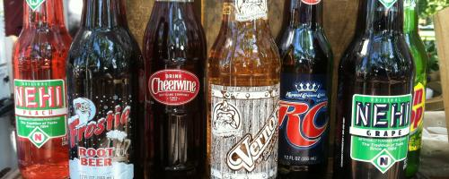 We carry the old time glass bottled sodas