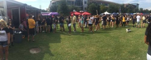 A busy afternoon at the University of Central Florida!
