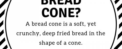 "In case your wondering... The bread cone is a ""must try"" item, only available in Rhode Island by Twisted T's!"