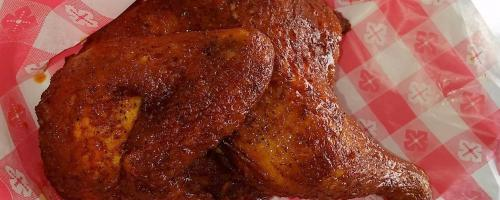 "Our famous ""Bandit Seasoned"" 1/2 Chicken!"